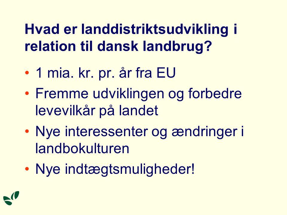 Hvad er landdistriktsudvikling i relation til dansk landbrug.