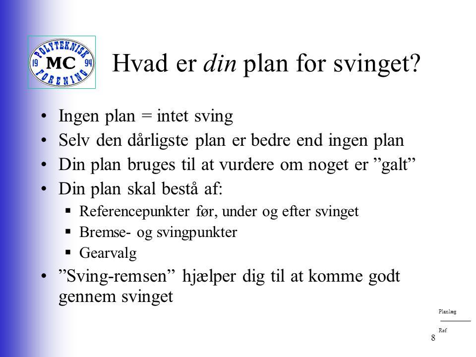 8 Hvad er din plan for svinget.