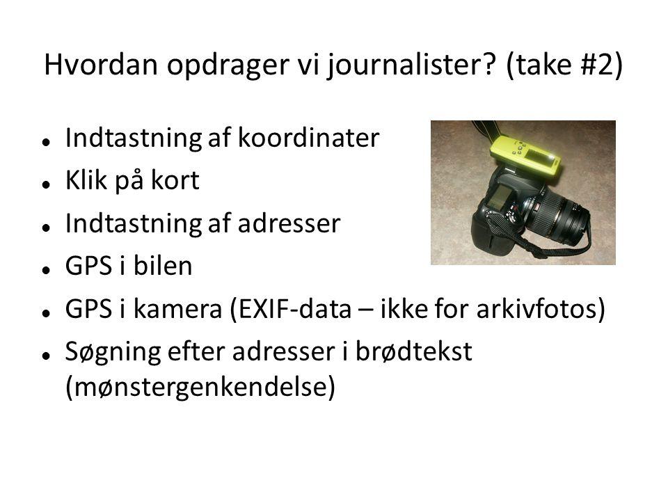 Hvordan opdrager vi journalister.