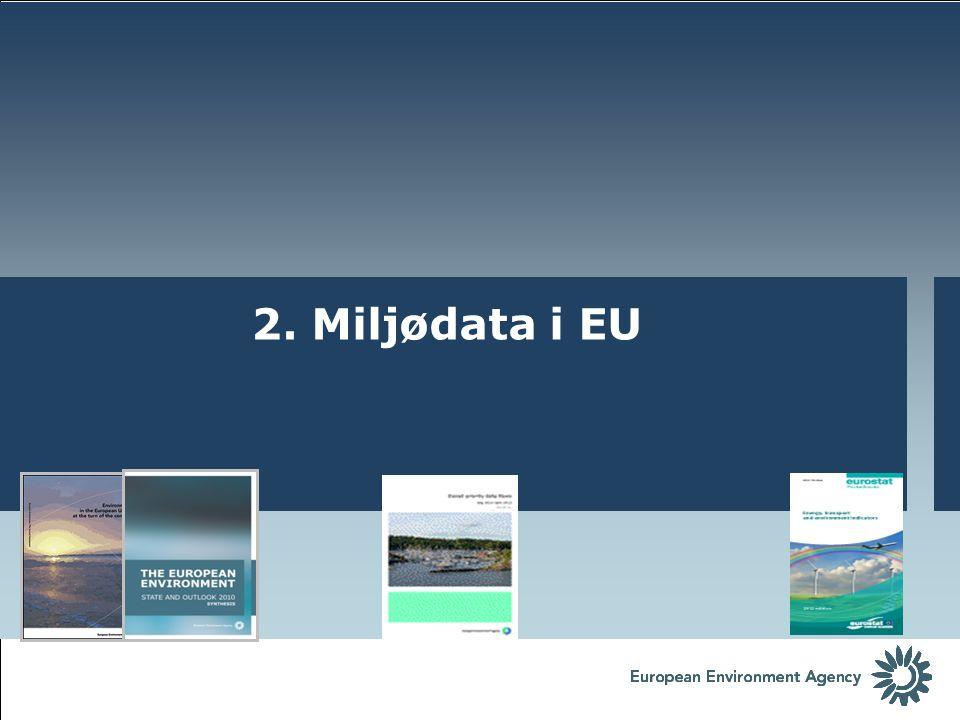 2. Miljødata i EU