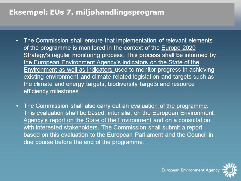 Eksempel: EUs 7.