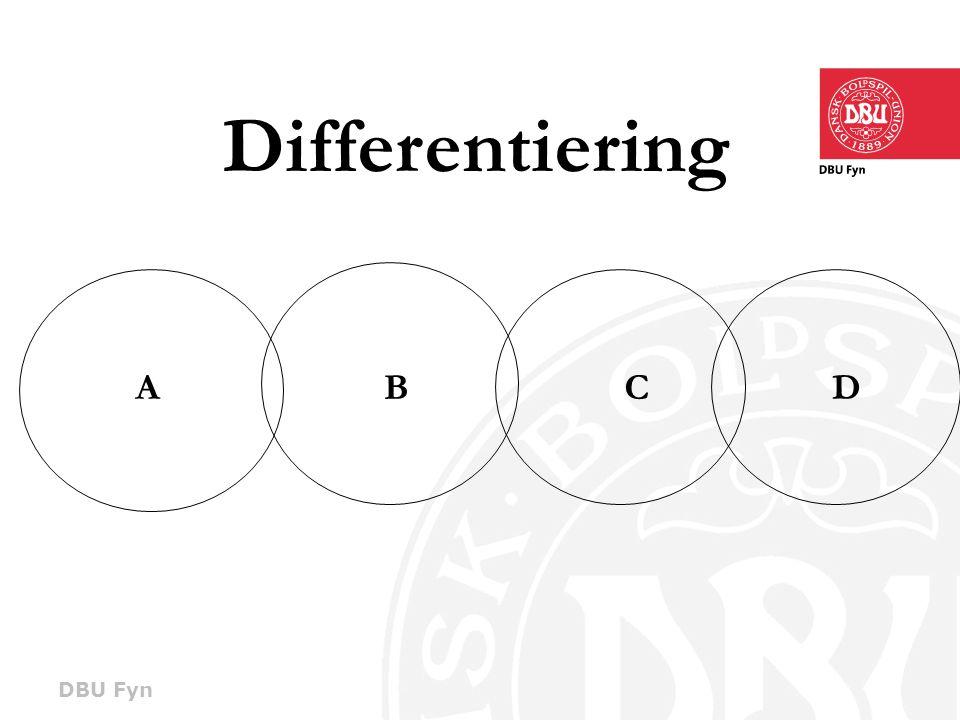 DBU Fyn Differentiering ABCD