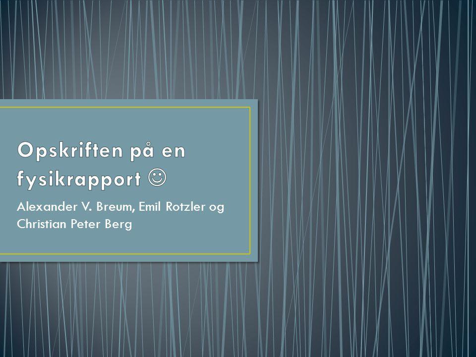 Alexander V. Breum, Emil Rotzler og Christian Peter Berg