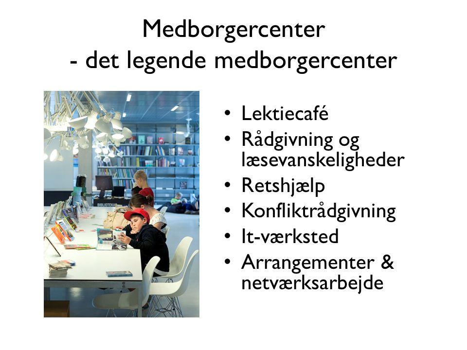 Medborgercenter - det legende medborgercenter • Lektiecafé • Rådgivning og læsevanskeligheder • Retshjælp • Konfliktrådgivning • It-værksted • Arrangementer & netværksarbejde