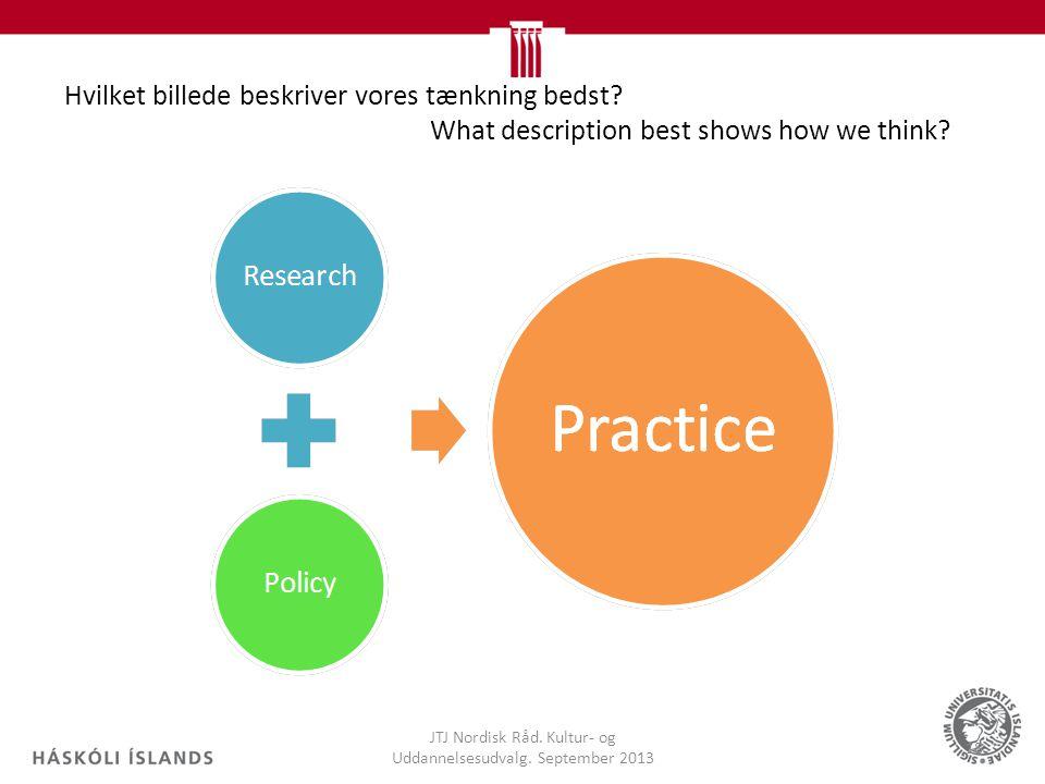 Hvilket billede beskriver vores tænkning bedst. What description best shows how we think.