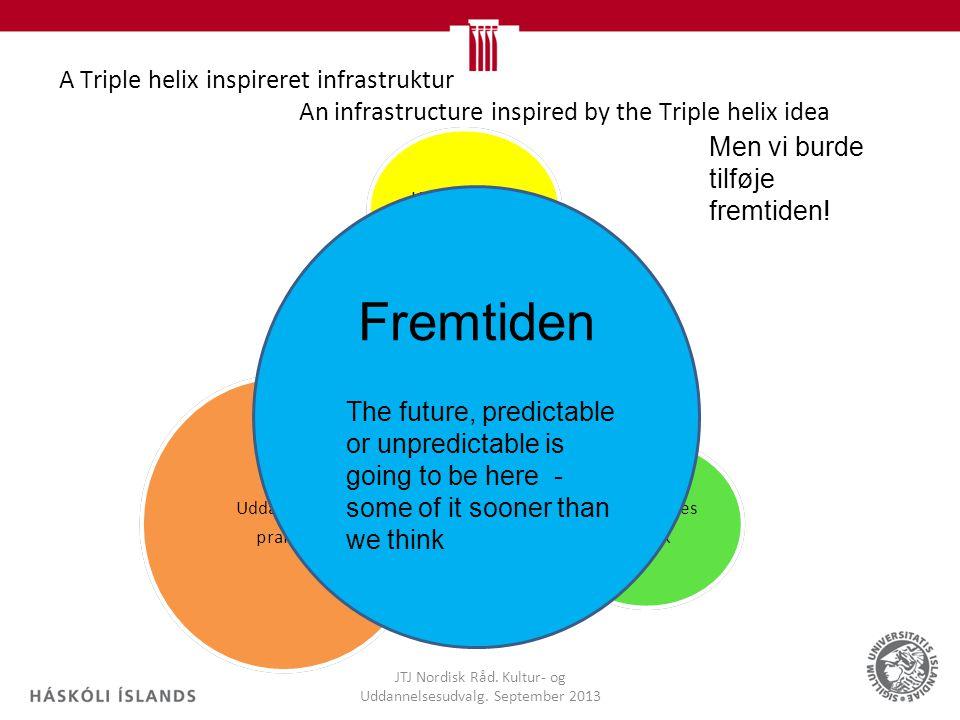 A Triple helix inspireret infrastruktur An infrastructure inspired by the Triple helix idea JTJ Nordisk Råd.