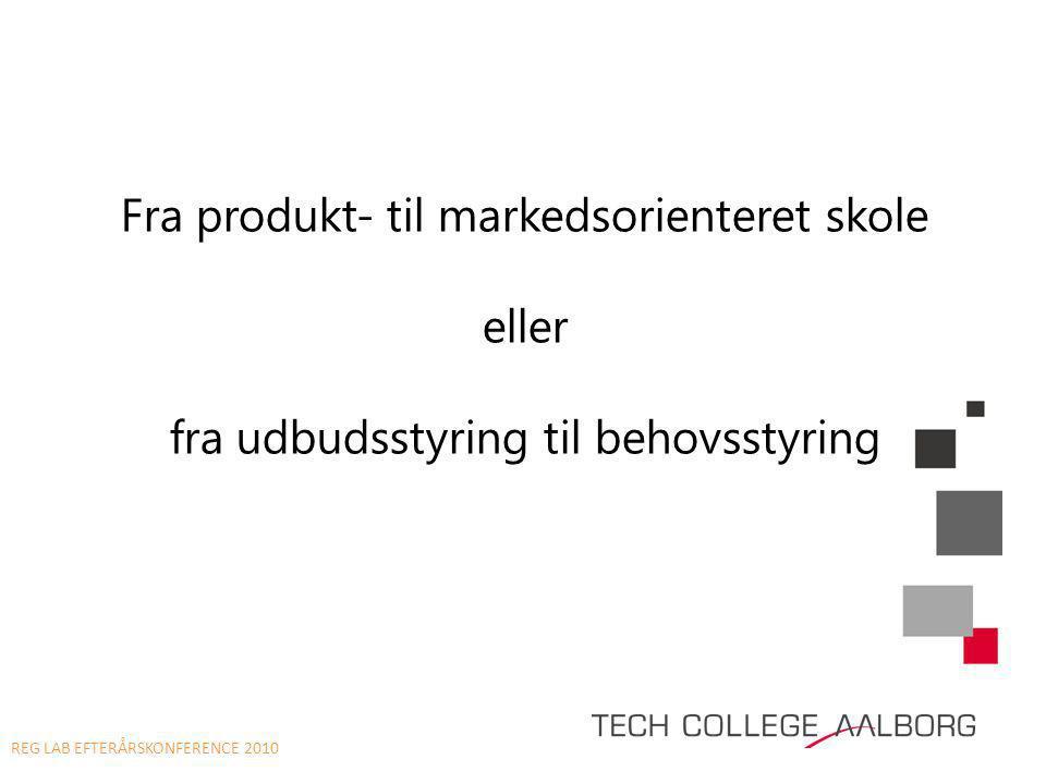 Fra produkt- til markedsorienteret skole eller fra udbudsstyring til behovsstyring REG LAB EFTERÅRSKONFERENCE 2010