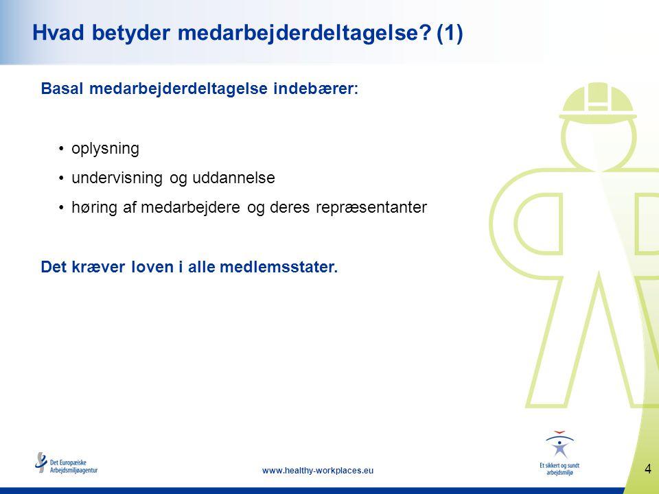 4 www.healthy-workplaces.eu Hvad betyder medarbejderdeltagelse.