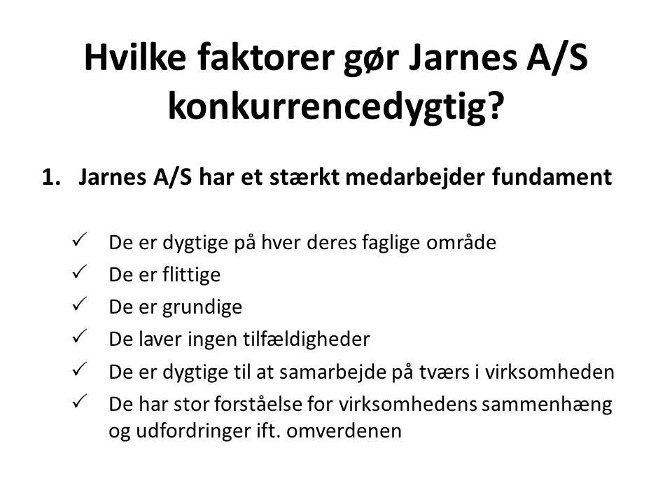 Hvilke faktorer gør Jarnes A/S konkurrencedygtig.