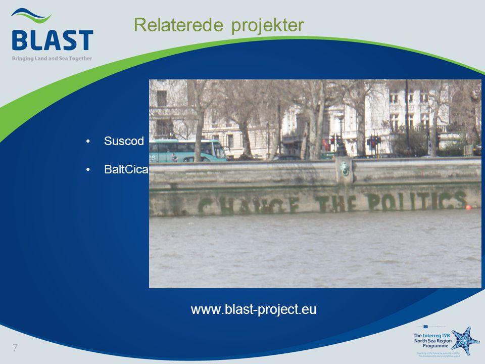 7 www.blast-project.eu •Suscod •BaltCica Relaterede projekter