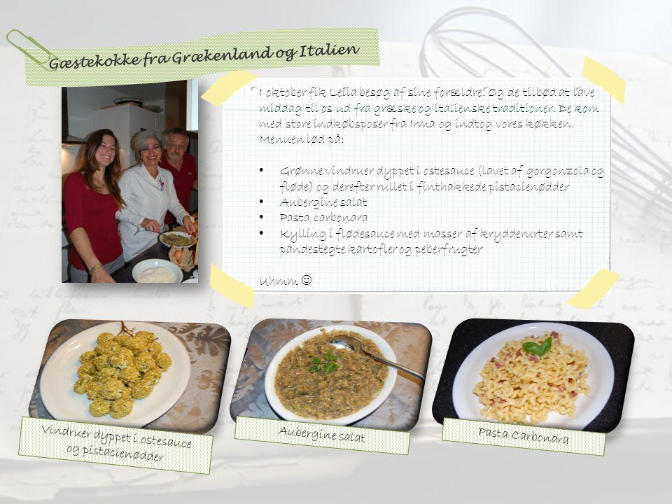 Pasta Carbonara I oktober fik Leila besøg af sine forældre.