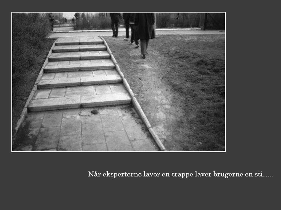 Når eksperterne laver en trappe laver brugerne en sti…..