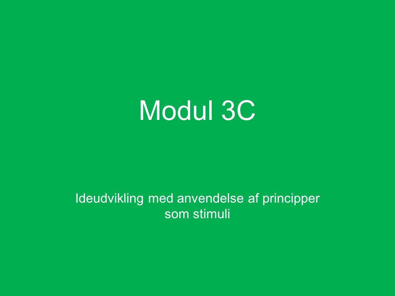 Modul 3C Ideudvikling med anvendelse af principper som stimuli