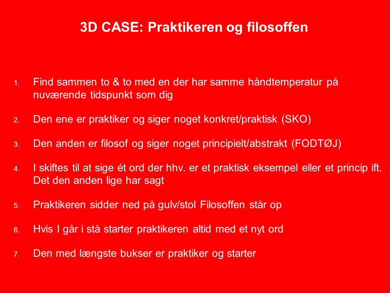 3D CASE: Praktikeren og filosoffen 1.