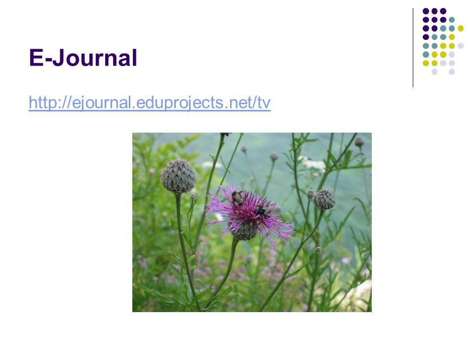 E-Journal http://ejournal.eduprojects.net/tv