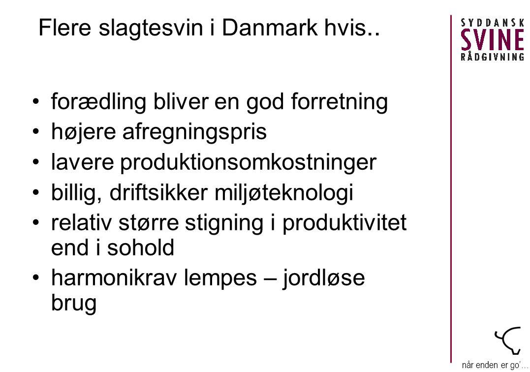når enden er go'… Flere slagtesvin i Danmark hvis..