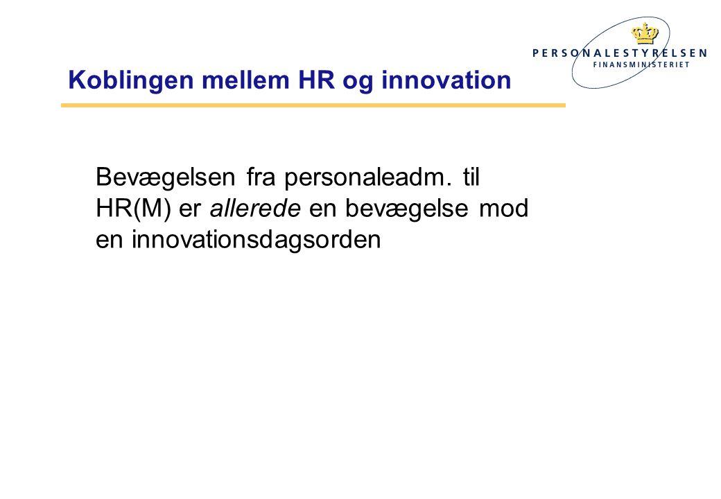 Koblingen mellem HR og innovation Bevægelsen fra personaleadm.