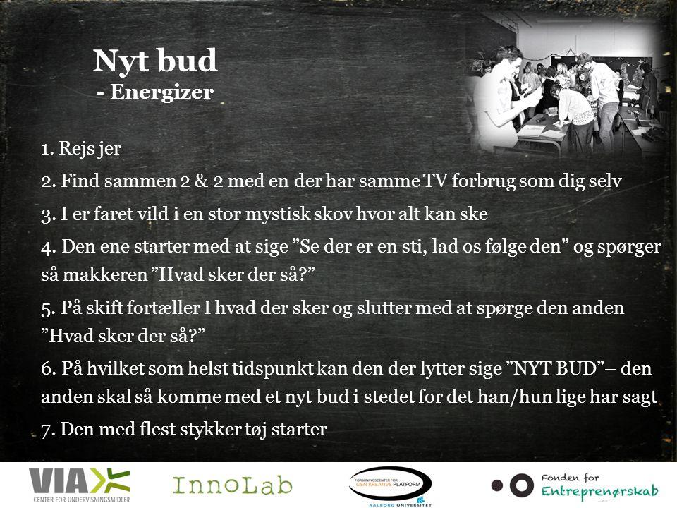 Nyt bud - Energizer 1.Rejs jer 2.