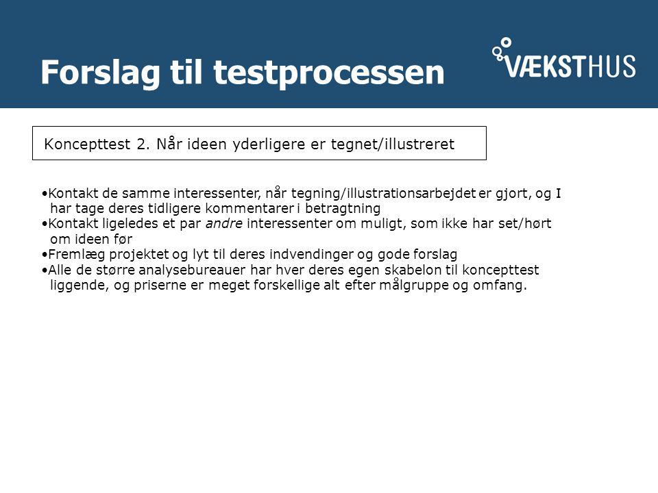 Forslag til testprocessen Koncepttest 2.