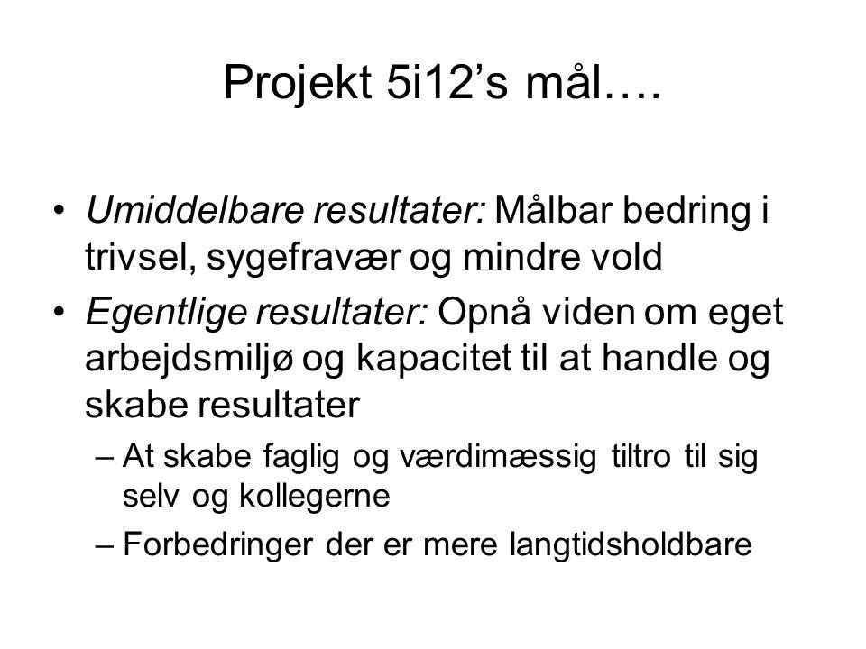 Projekt 5i12's mål….