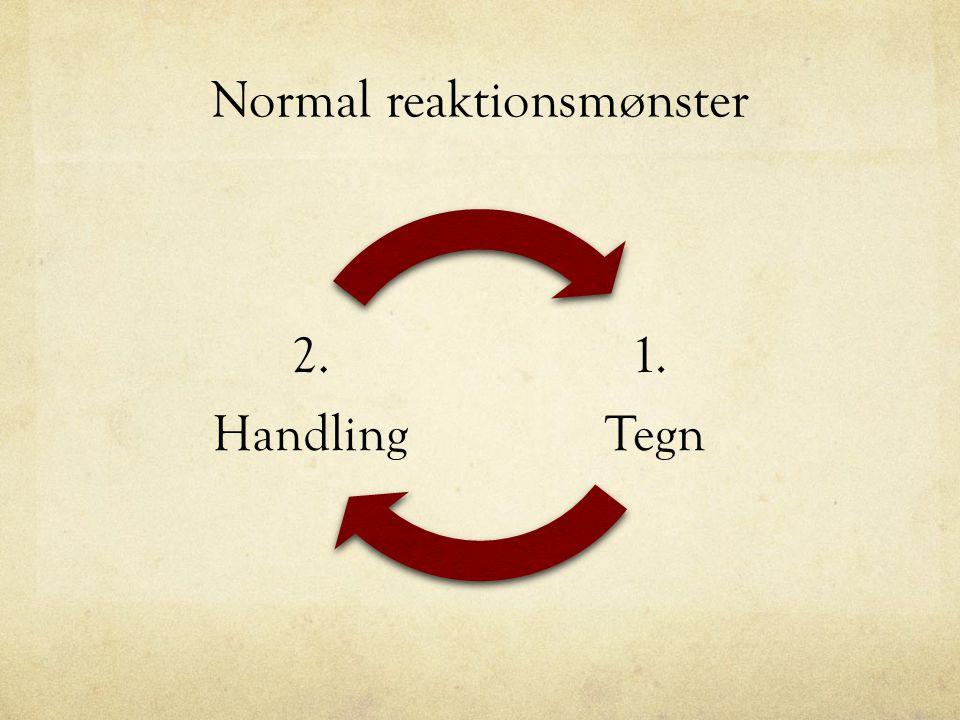Anerkendende refleksion 1.Tegn (observations- periode) 2.