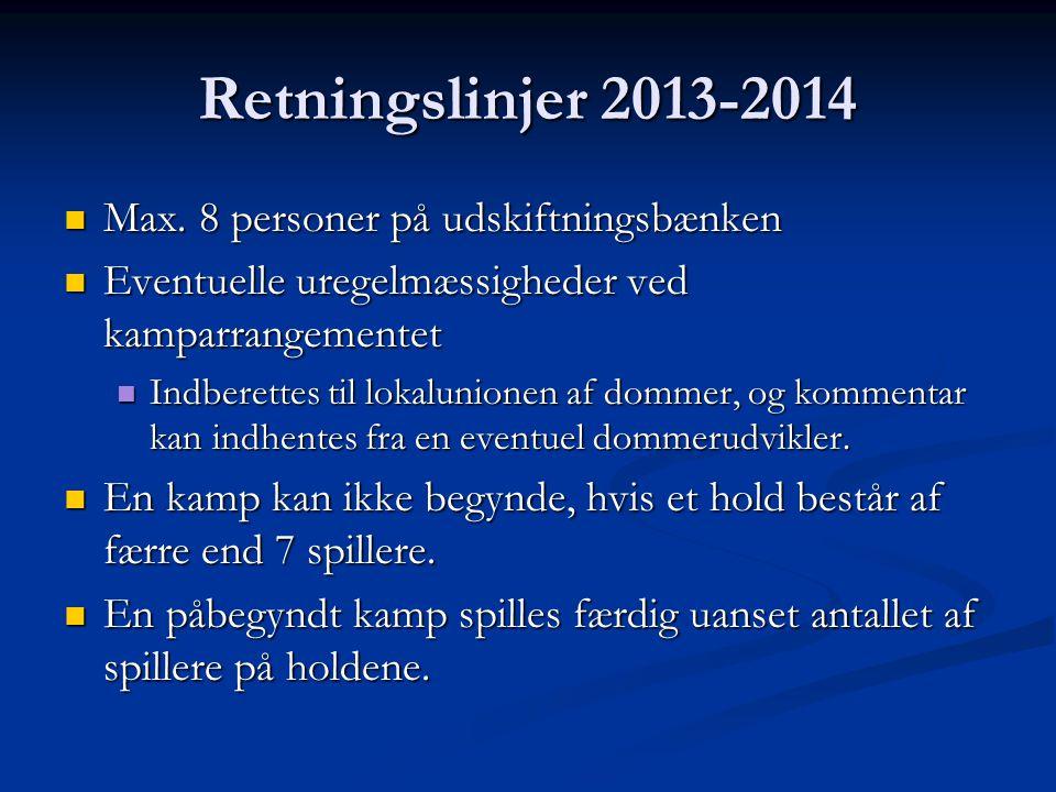 Retningslinjer 2013-2014  Max.
