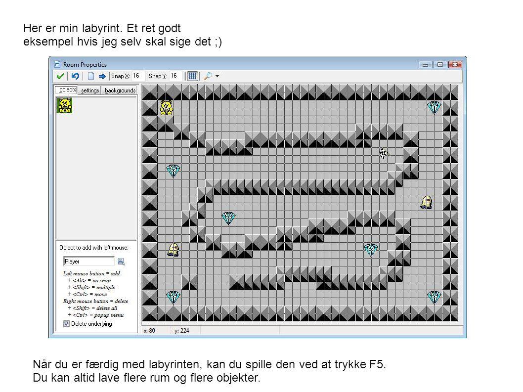 Her er min labyrint.