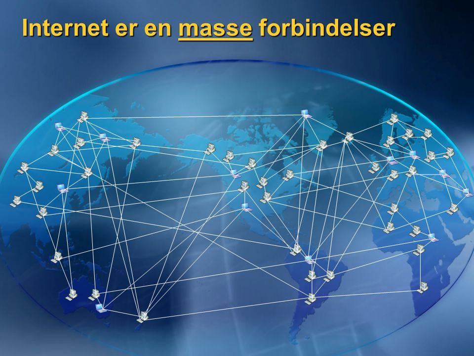 Internet er en masse forbindelser