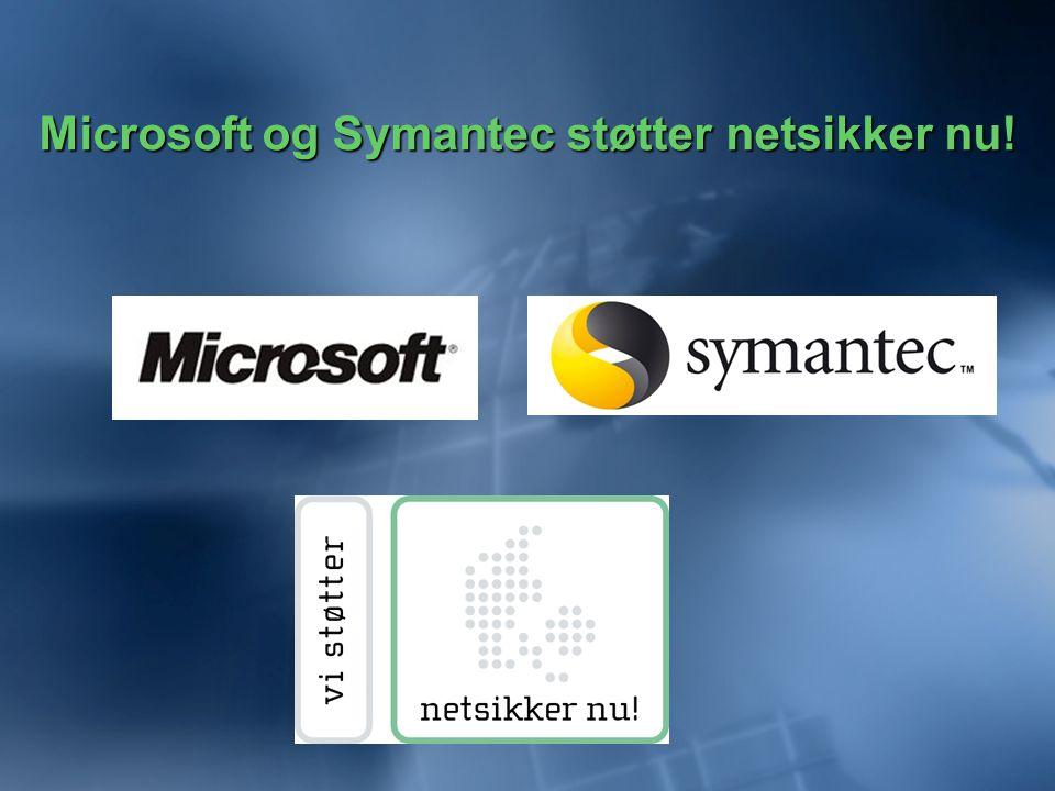 Microsoft og Symantec støtter netsikker nu!