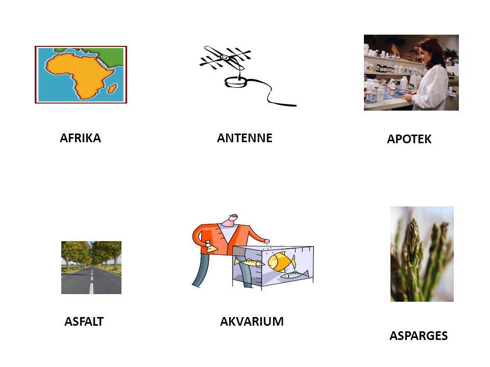 APOTEK AFRIKAANTENNE ASFALTAKVARIUM ASPARGES