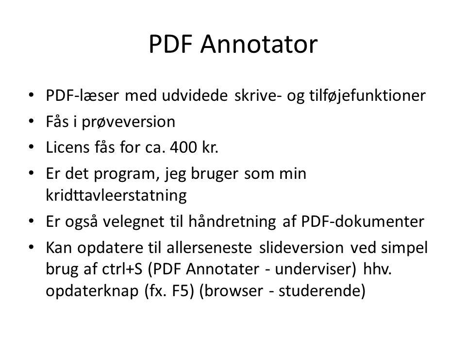 PDF Annotator • PDF-læser med udvidede skrive- og tilføjefunktioner • Fås i prøveversion • Licens fås for ca.
