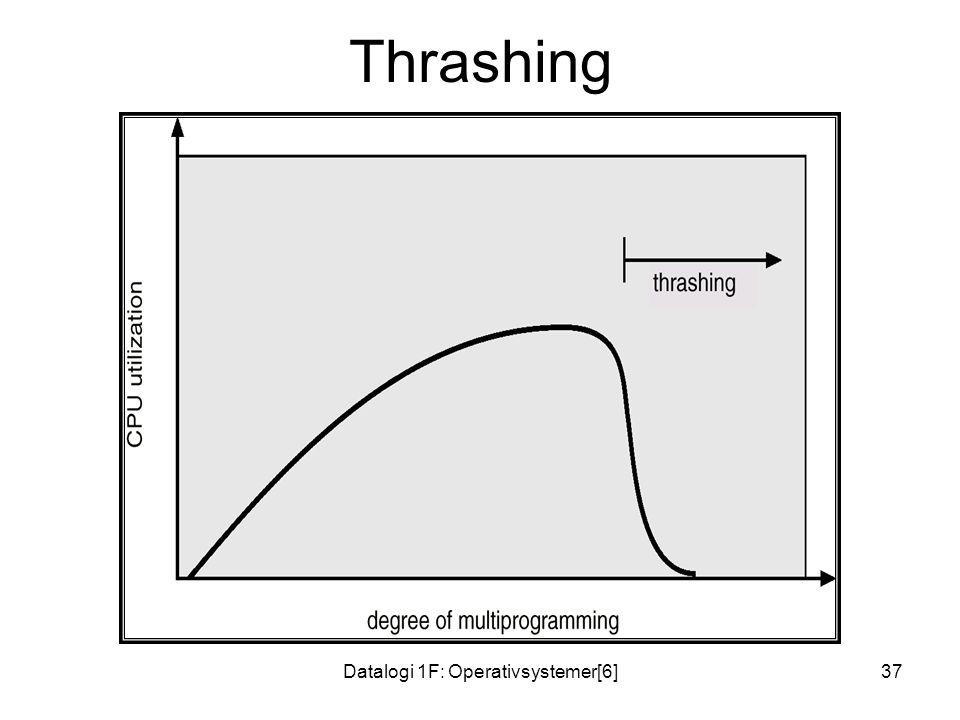 Datalogi 1F: Operativsystemer[6]37 Thrashing