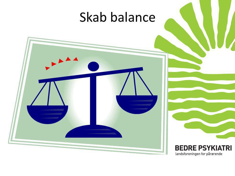 Skab balance