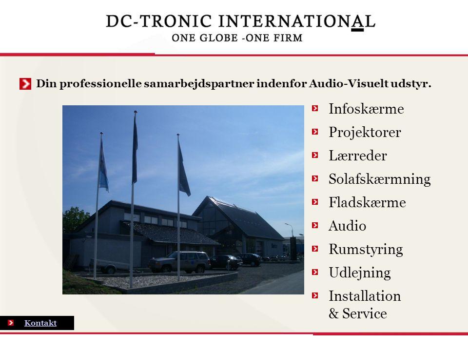 Din professionelle samarbejdspartner indenfor Audio-Visuelt udstyr.