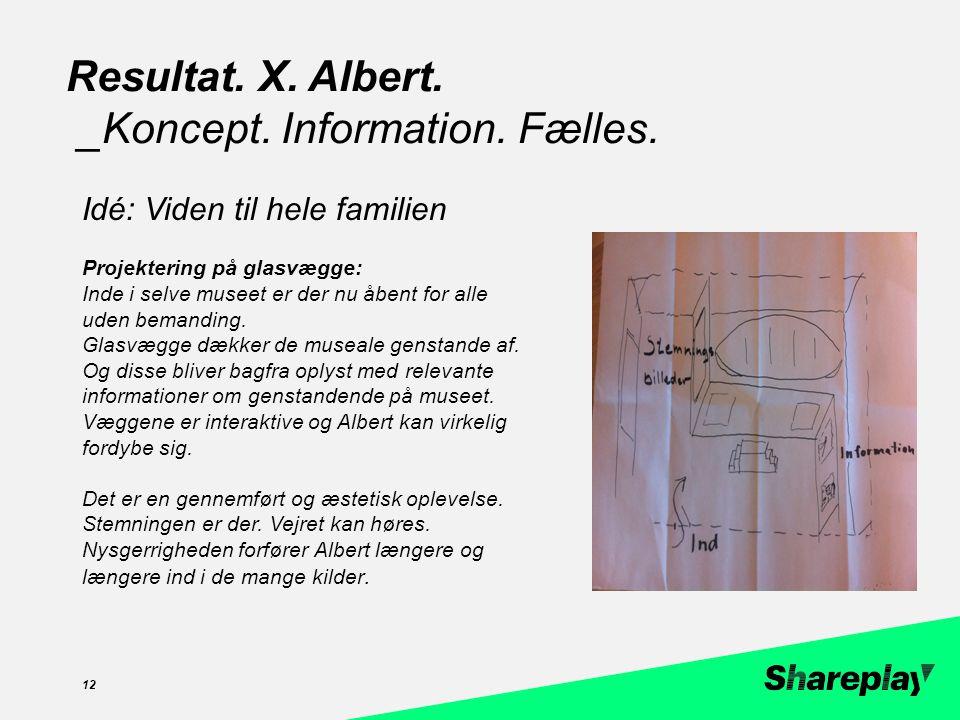 zzc 12 Resultat. X. Albert. _Koncept. Information.