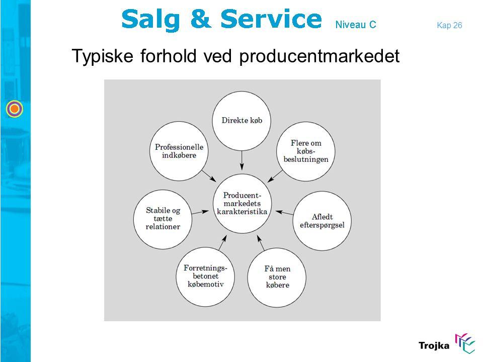 Kap 26 Typiske forhold ved producentmarkedet