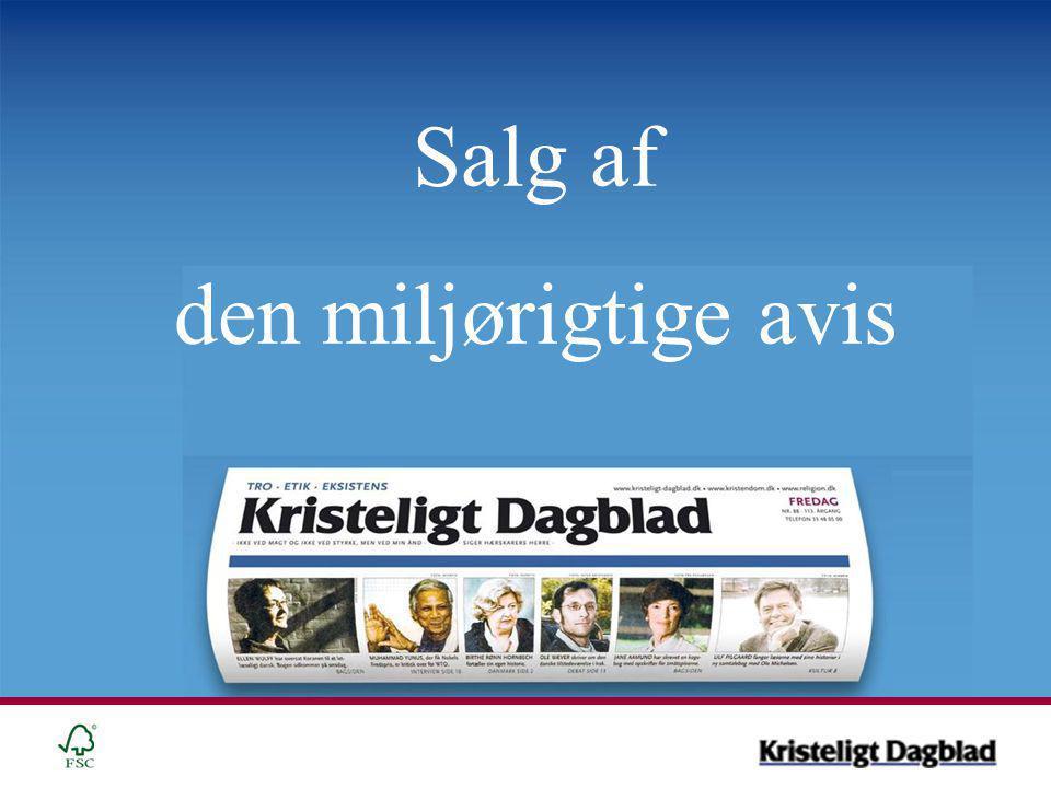 Salg af den miljørigtige avis