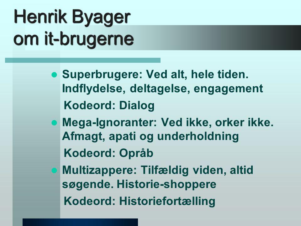 Henrik Byager om it-brugerne  Superbrugere: Ved alt, hele tiden.