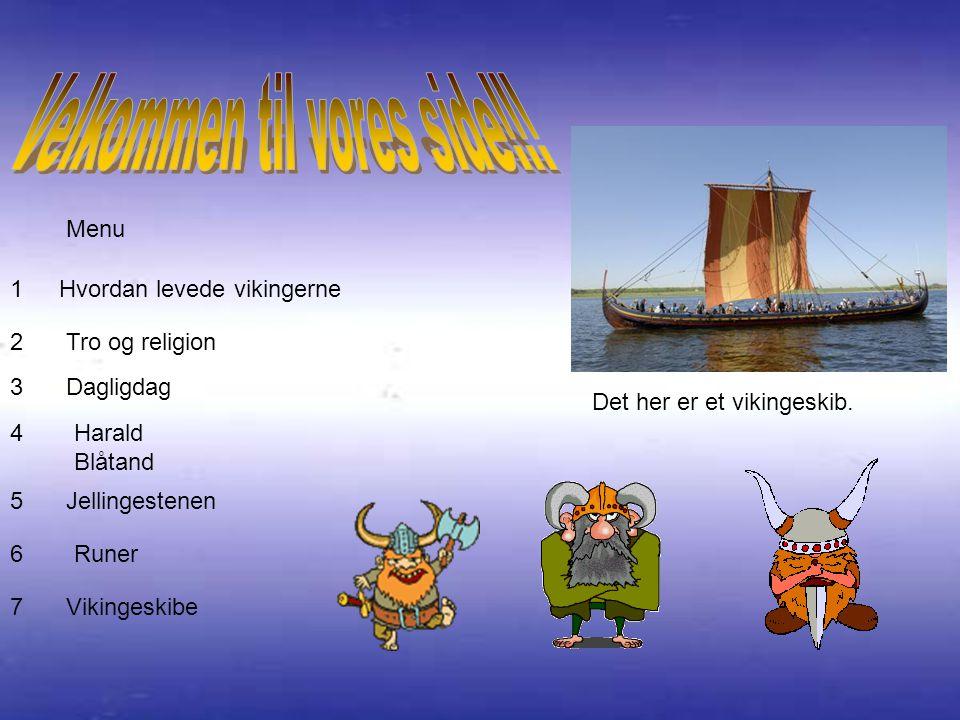 Menu Hvordan levede vikingerne Tro og religion Det her er et vikingeskib.