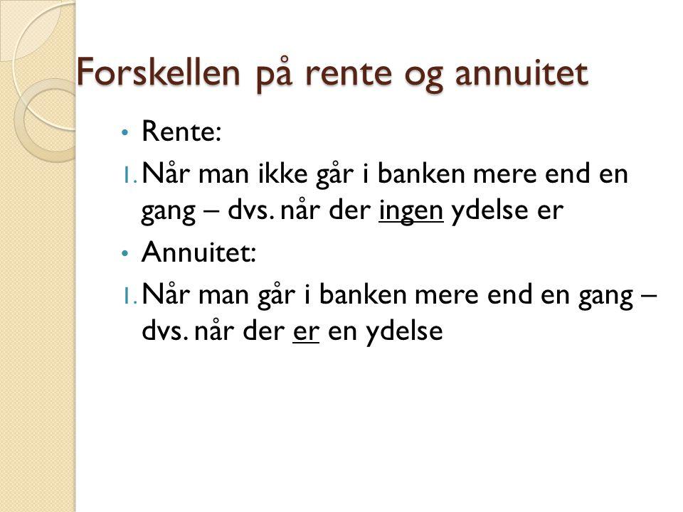 Formler for Rente: K  Kn = k0*(1+r) n  K0 = kn(1+r) -n  N =  R = JEG KLARER ALDRIG DET HER!!!