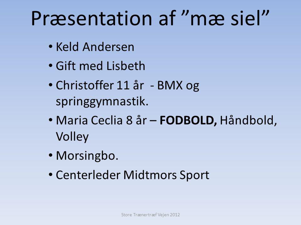 Præsentation af mæ siel • Keld Andersen • Gift med Lisbeth • Christoffer 11 år - BMX og springgymnastik.