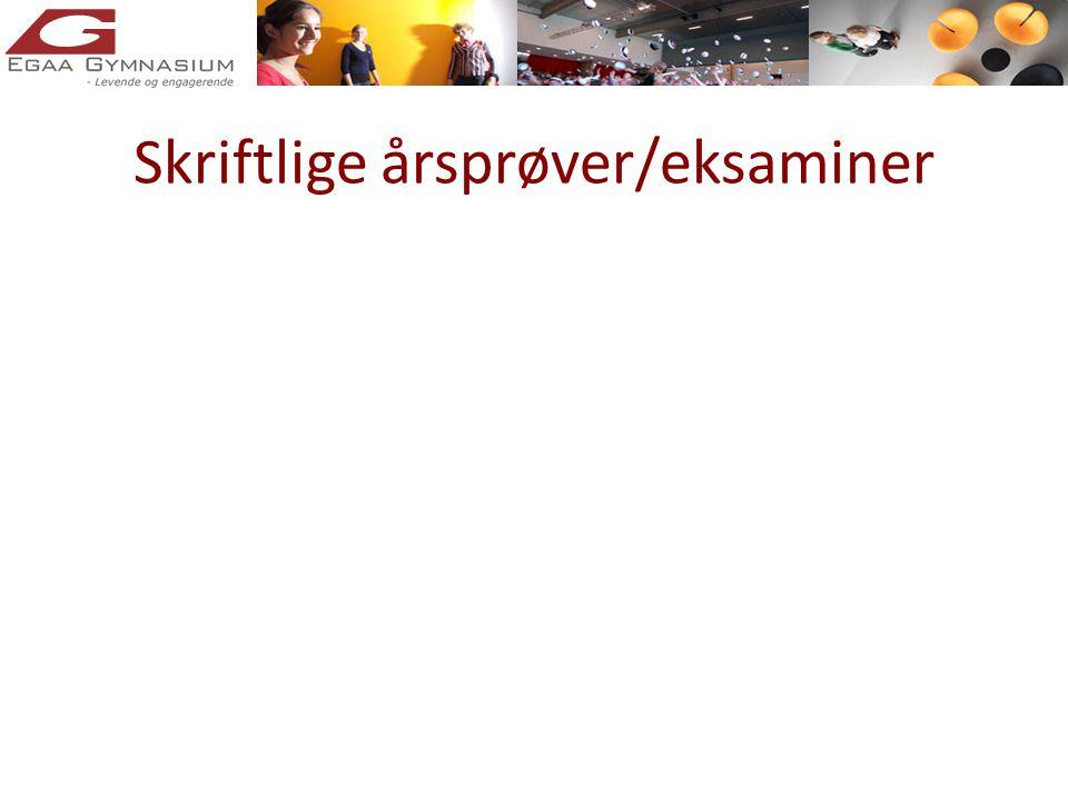 Skriftlige årsprøver/eksaminer