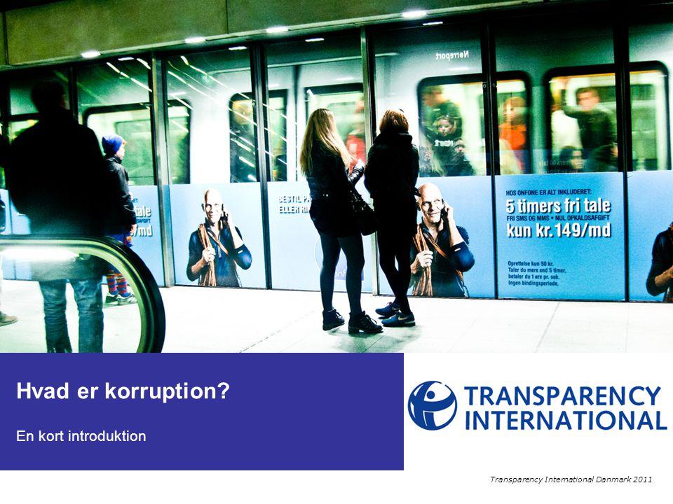 Denne præsentation giver en kort introduktion til emnet korruption.