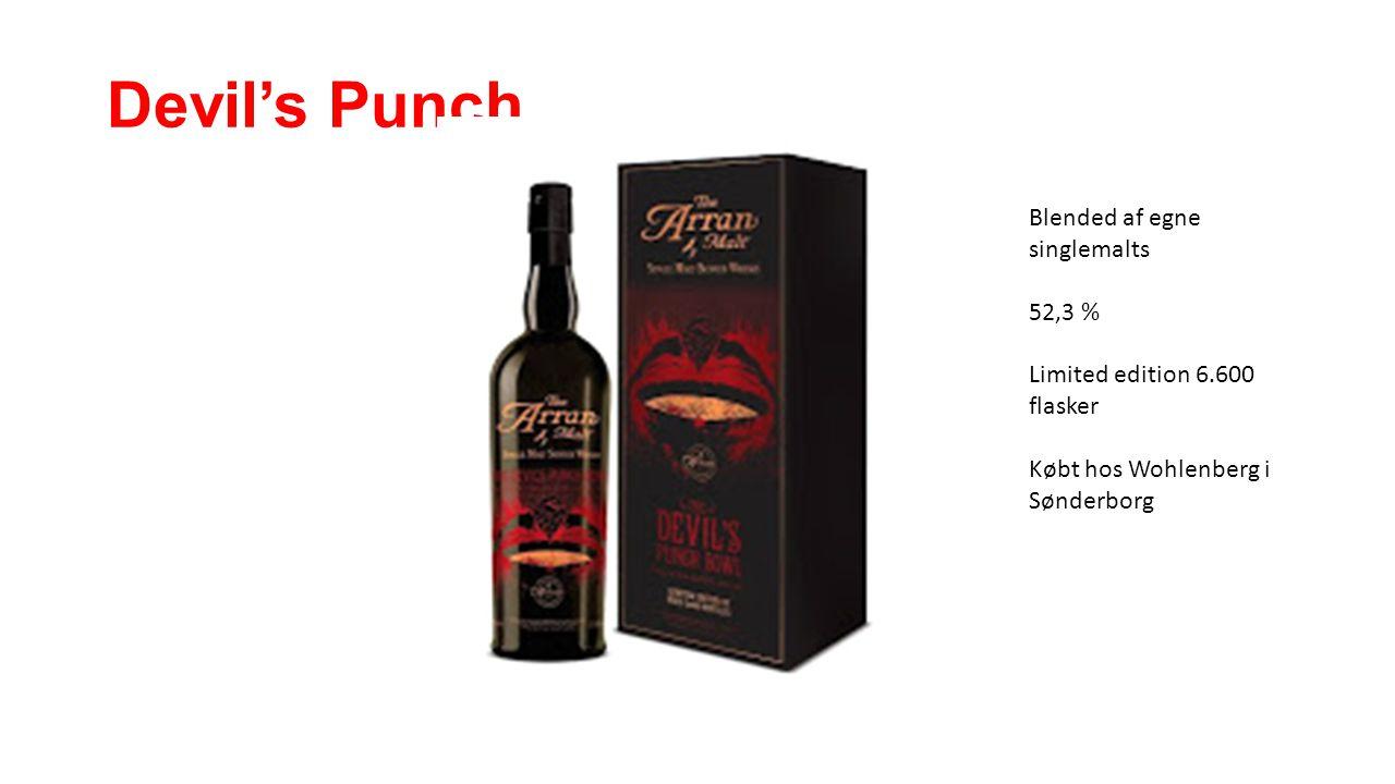Devil's Punch Blended af egne singlemalts 52,3 % Limited edition 6.600 flasker Købt hos Wohlenberg i Sønderborg