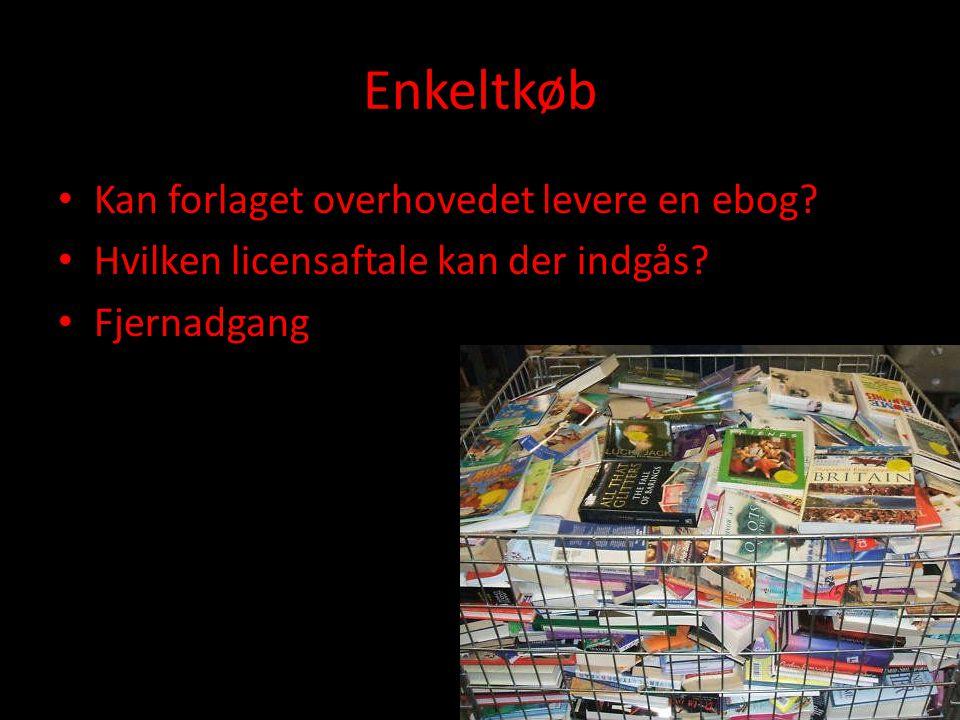 Enkeltkøb • Kan forlaget overhovedet levere en ebog.