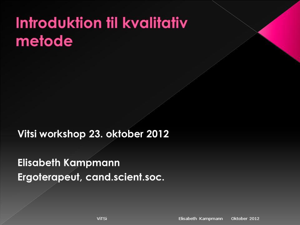 Oktober 2012 ViTSi Elisabeth Kampmann Vitsi workshop 23.