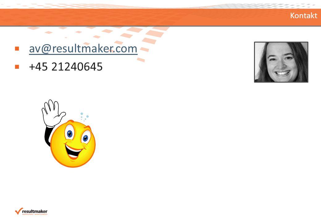 Kontakt  av@resultmaker.com av@resultmaker.com  +45 21240645