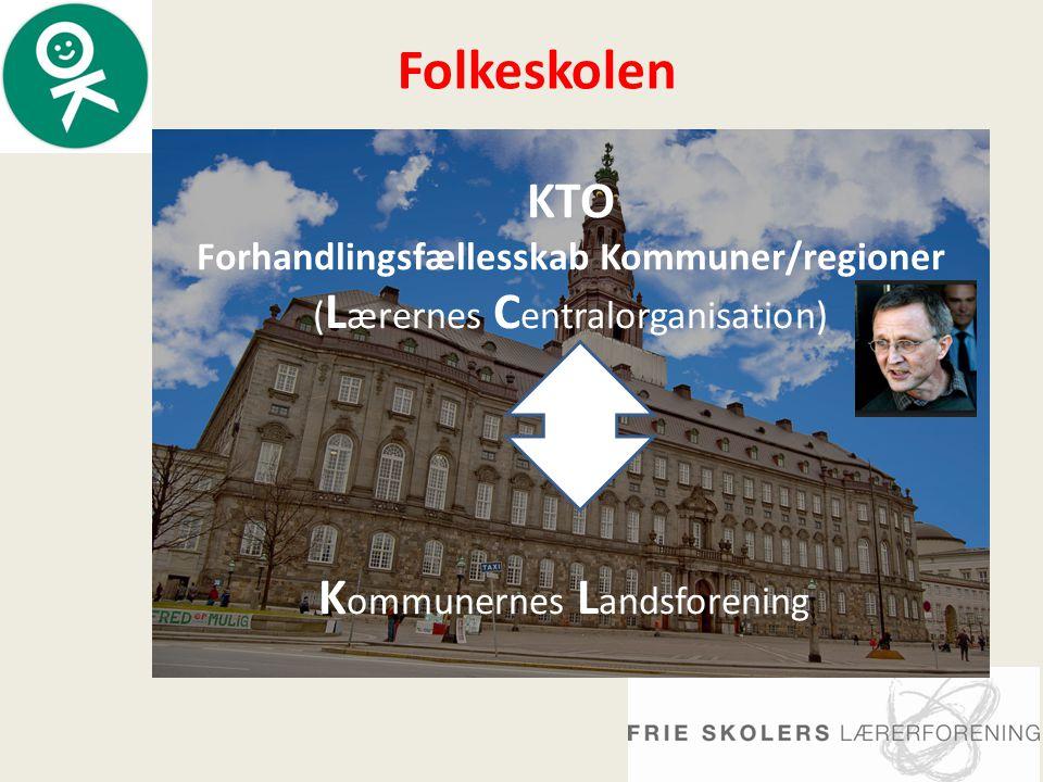 KTO Forhandlingsfællesskab Kommuner/regioner ( L ærernes C entralorganisation) K ommunernes L andsforening Folkeskolen