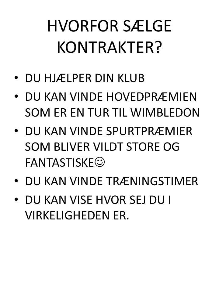 HVORFOR SÆLGE KONTRAKTER.