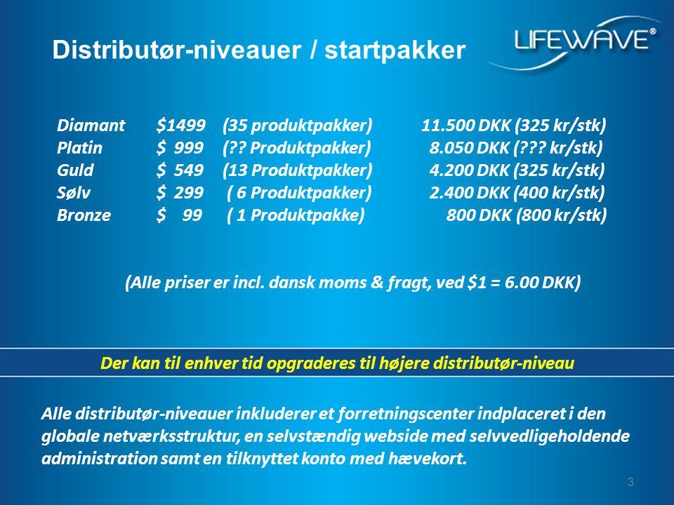 3 Diamant$1499(35 produktpakker)11.500 DKK (325 kr/stk) Platin$ 999( .